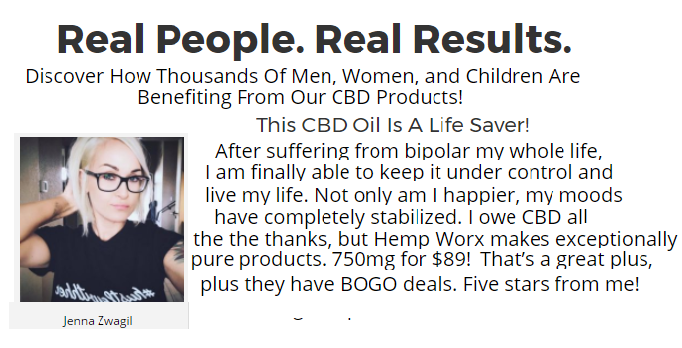 HempWorx CBD Oil Results