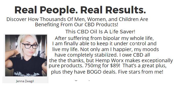 HempWorx CBD Oil Results
